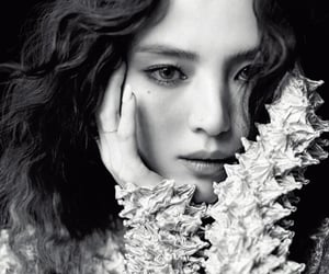 magazine, model, and photoshoot image