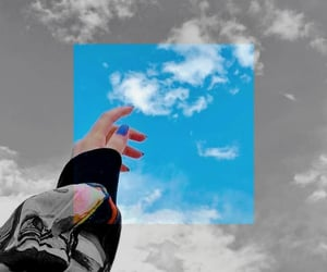 aesthetic, blue, and cloud image