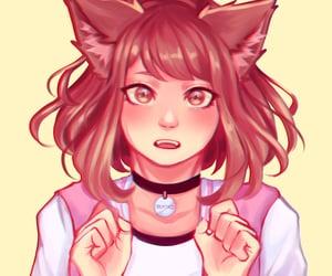 fan art, mha, and cat uraraka image