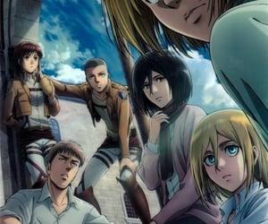 anime, sasha, and armin image
