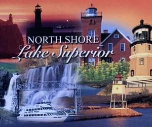 water, lighthouses, and postcards image