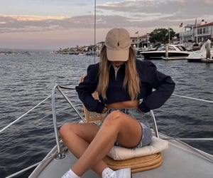 aesthetic, boat, and fashion image