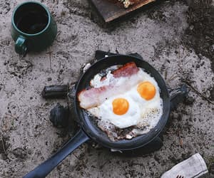 bacon, camping, and eggs image