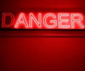 aesthetic, danger, and neonlights image