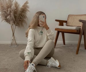 beige, new balance, and sneakers image