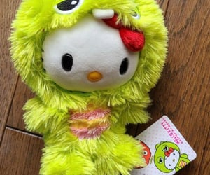 emo, neon green, and plushie image
