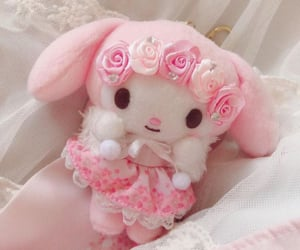 flowers, my melody, and pink image