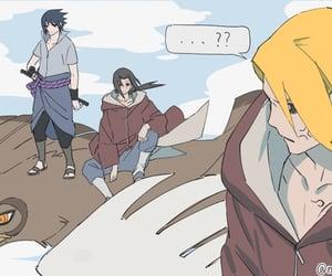 akatsuki, itachi, and sasuke uchiha image