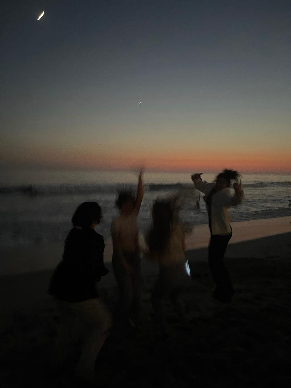 beach, fun, and sunset image