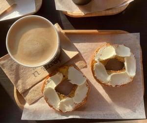 aesthetic, bagel, and breakfast image