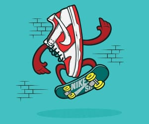 art, skateboards, and sneakers image