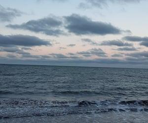 beautiful, blue sky, and ocean image