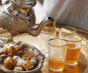tea, morocco, and food image