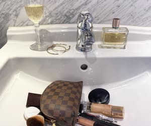 bathroom, beauty, and champagne image