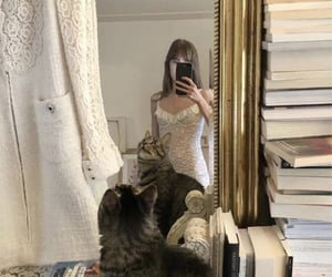 aesthetic, cat, and fashion image