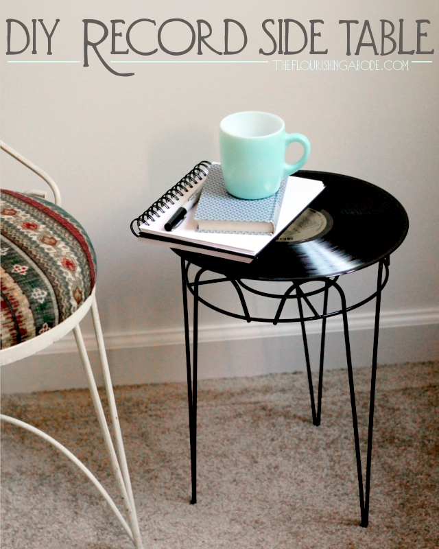 Upcycled Furniture Project Diy Side Table From Vintage Record