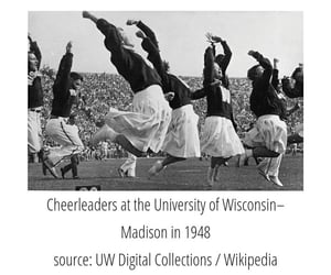 history, cheerleading, and in 1948 image