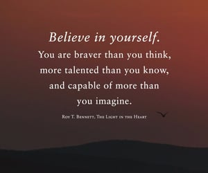 believe, imagine, and in image