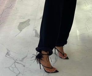black pants, fashion, and heels image