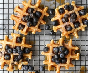 blueberry, waffles, and food image