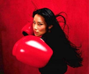 boxing, red, and o-ren ishii image