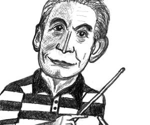 caricatura, caricature, and charlie watts image