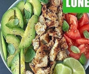 fit, chiken, and food image