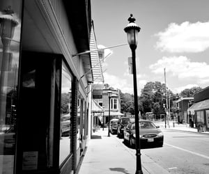 streetscape, downtown, and small town image