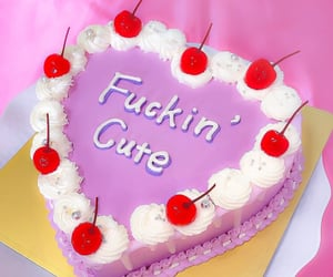 cake, cutie, and heart image