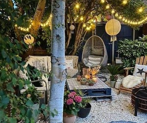 chilling, lighting, and outdoor ideas image