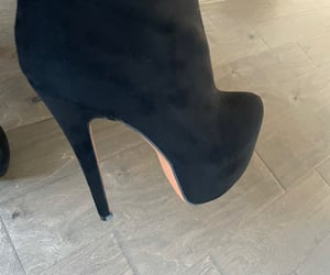 black, boots, and pumps image