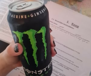 aesthetic, college, and energy drink image