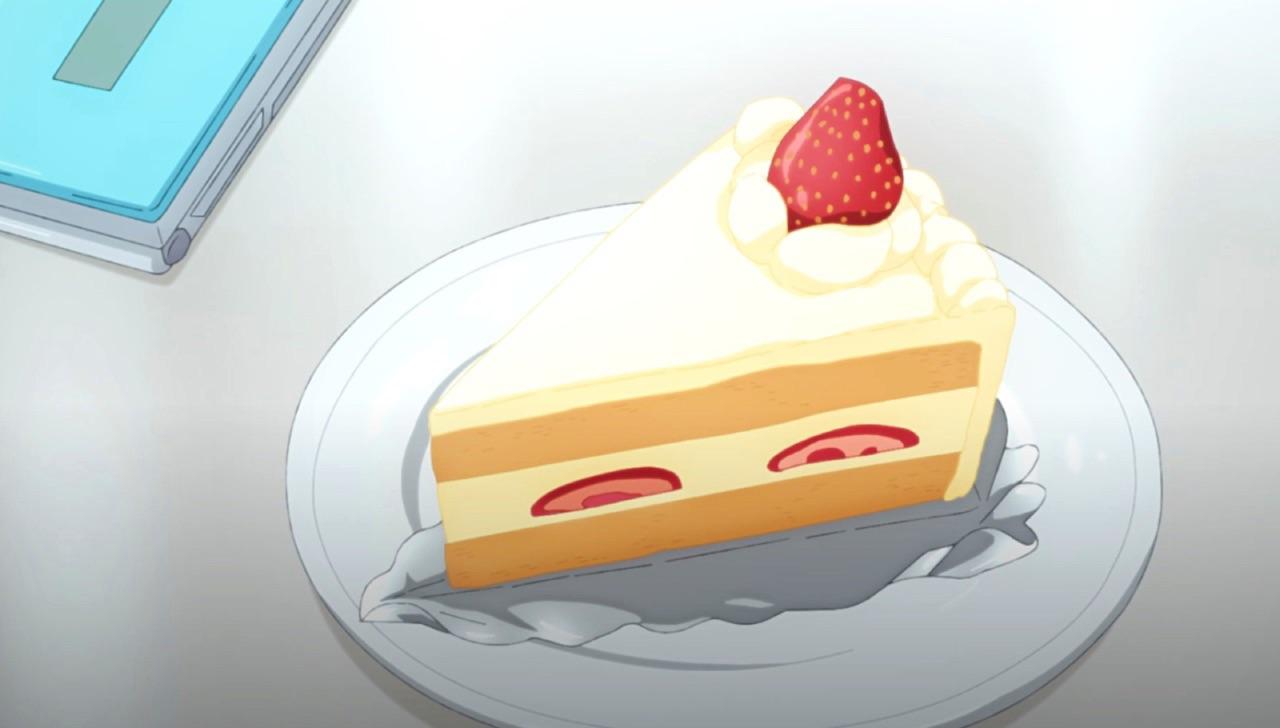 anime, cake, and anime food image
