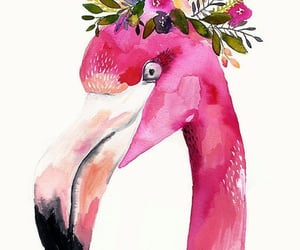 flamingo and pineapple image
