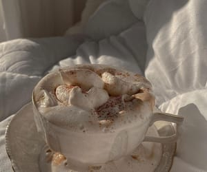 aesthetic, cream, and hot chocolade image
