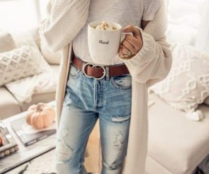 autumn, cozy, and jeans image