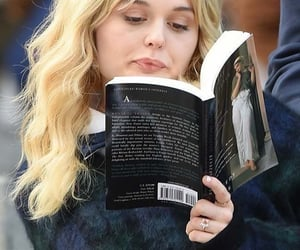 blond, bookstan, and book image