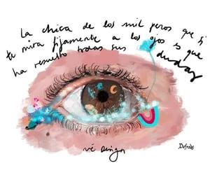 amor, frases español, and mirada image