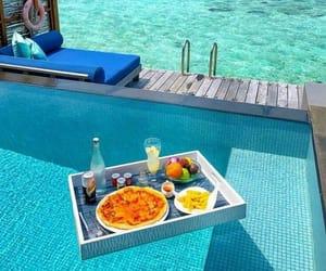 food, Maldives, and water image