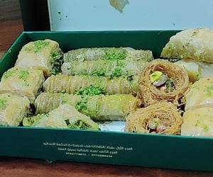 baghdad, baklava, and dessert image