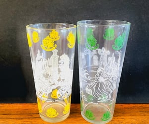 cocktail glasses, etsy, and akitschisjustakitsch image