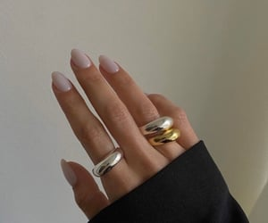 nails, aesthetic, and rings image