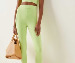 leggings, fashion, and green image