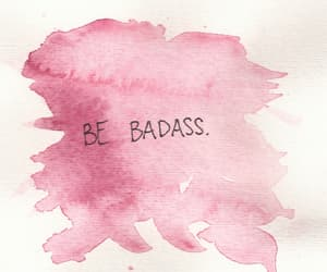 badass, quotes, and pink image