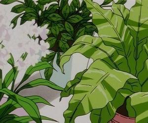 anime, green, and plants image