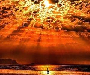 burning sky clouds image