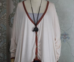 knitted shirt, plus size clothes, and cotton top image