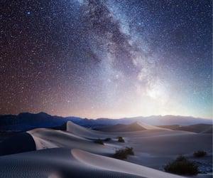 california, desert, and stars image