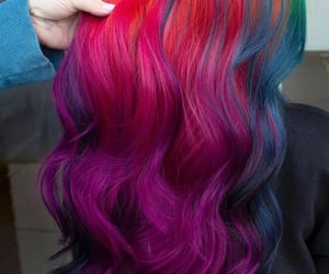 aesthetic, neon, and pink hair image