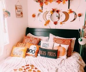 autumn, Halloween, and bedroom image